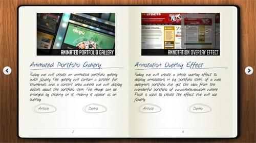 Moleskine Notebook with jQuery Booklet 7 gallerie Premium in jQuery per mostrare le foto nei tuoi siti