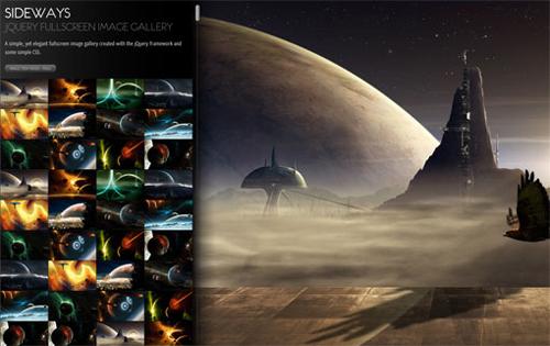 SIDEWAYS jQuery fullscreen image gallery 7 gallerie Premium in jQuery per mostrare le foto nei tuoi siti