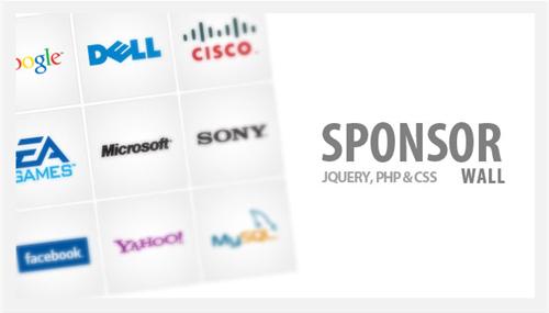 Sponsor Flip Wall With jQuery CSS 7 gallerie Premium in jQuery per mostrare le foto nei tuoi siti