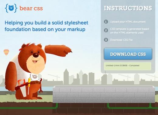 bear css Bear CSS: generare fogli di stile da file HTML