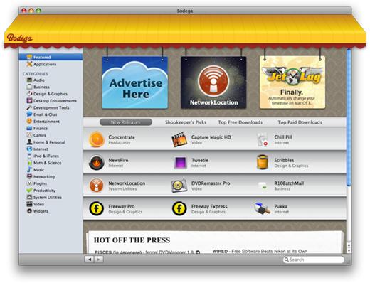 bodega2 Bodega: il negozio delle applicazioni per Mac Os