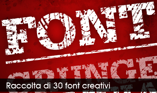 creative fonts Raccolta di 30 font creativi
