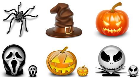 halloween icons1 Raccolta di icone e vettoriali per la festa di Halloween