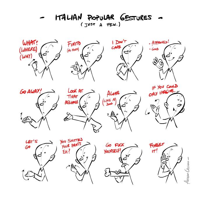 italian gestures1 Italian popular gestures: gli italiani si esprimono così...