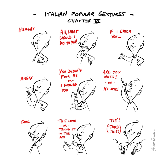 italian gestures3 Italian popular gestures: gli italiani si esprimono così...