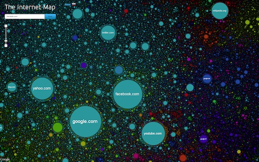 The Internet Map: l&#8217;universo dei siti Internet