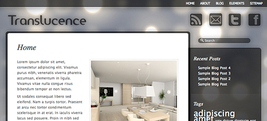 translucence Translucence: template Translucente per Wordpress