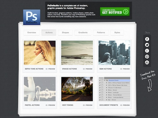 PSDefaults: il mini kit per il Web Design